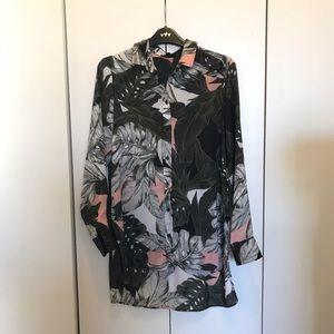 Topshop tropical print shirt